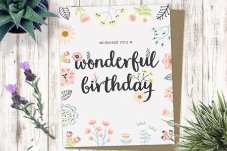 Beautiful and unique birthday card templates