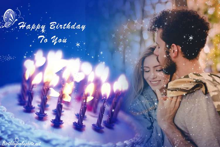 Photo frame birthday cake online