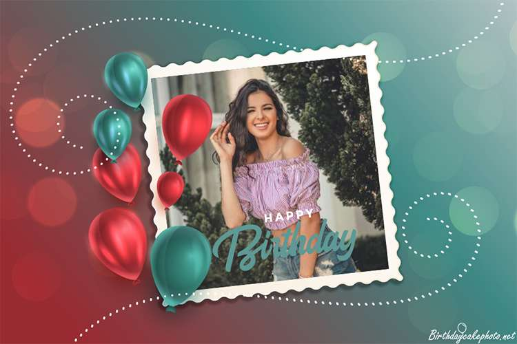 Meaningful Balloons Birthday Card With Photos