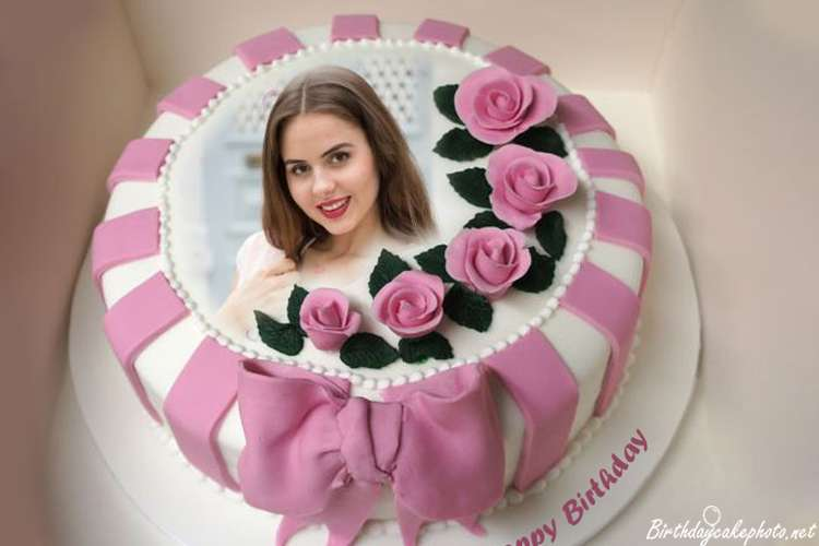 Phenomenal Pink Rose Birthday Cake With Pics Online Free Birthday Cards Printable Riciscafe Filternl