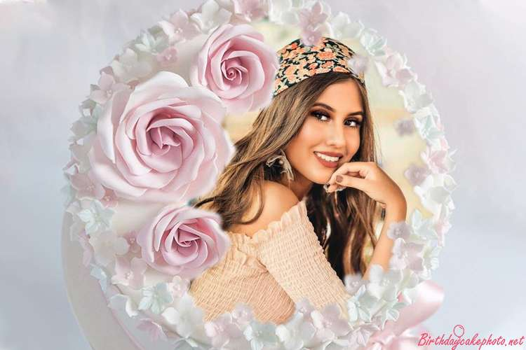 Collage Photos Into Lovely Flower Birthday Cakes