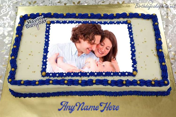 Happy Birthday Cake For Friends With Name And Photo