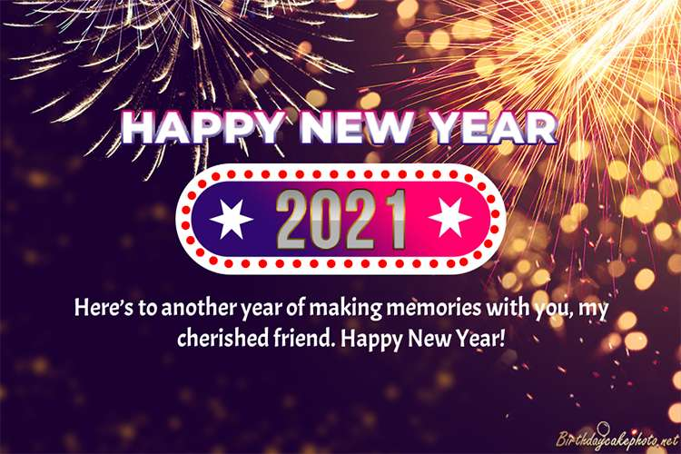 New Year Fireworks Greeting Card 2021 For Free