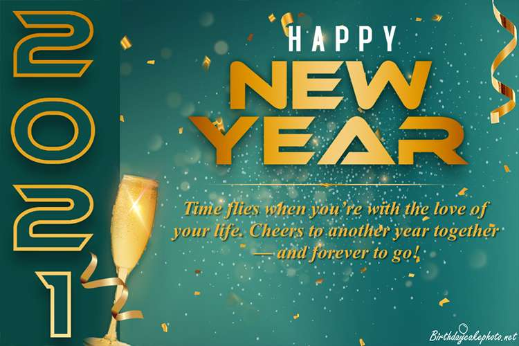 Make New Year 2021 Greeting Cards Online