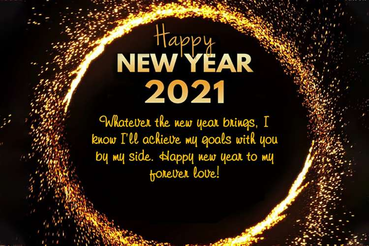 Happy New Year 2021 Wishes Card For Friends And Family